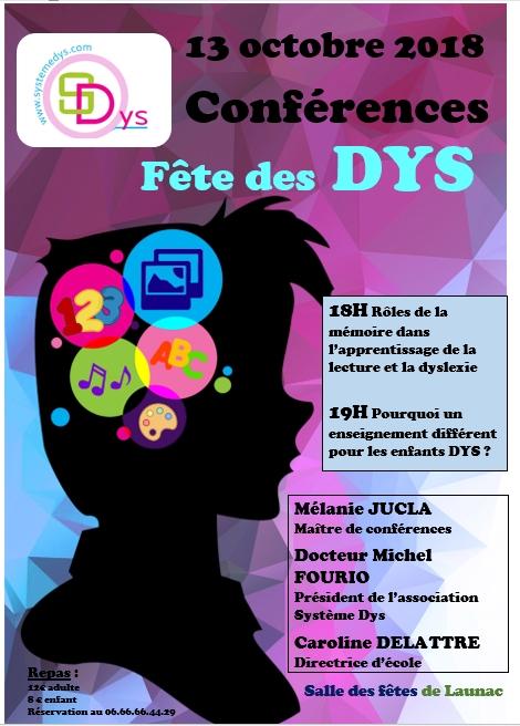 Conférences, fête nationale des DYS