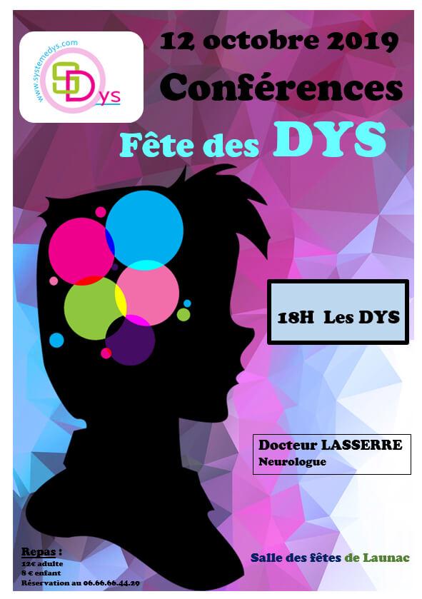 Affiche de la Conférence de la Fête des DYS